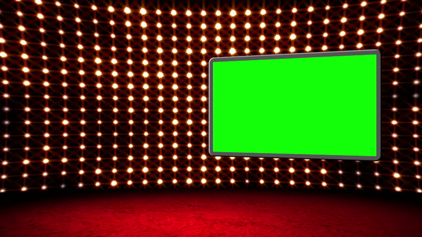Flashing Lights Movie Sign Green Screen Stock Footage