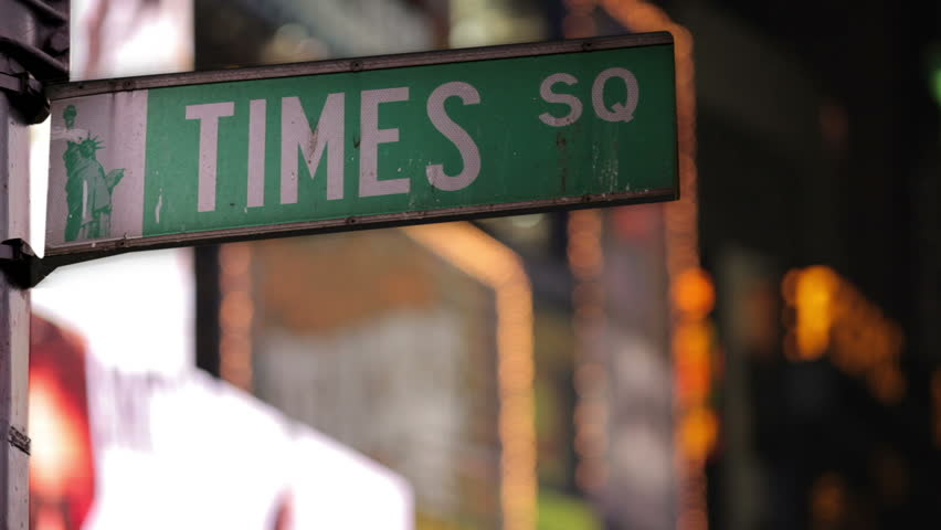 Times Square Street Sign | Shutterstock HD Video #2078819