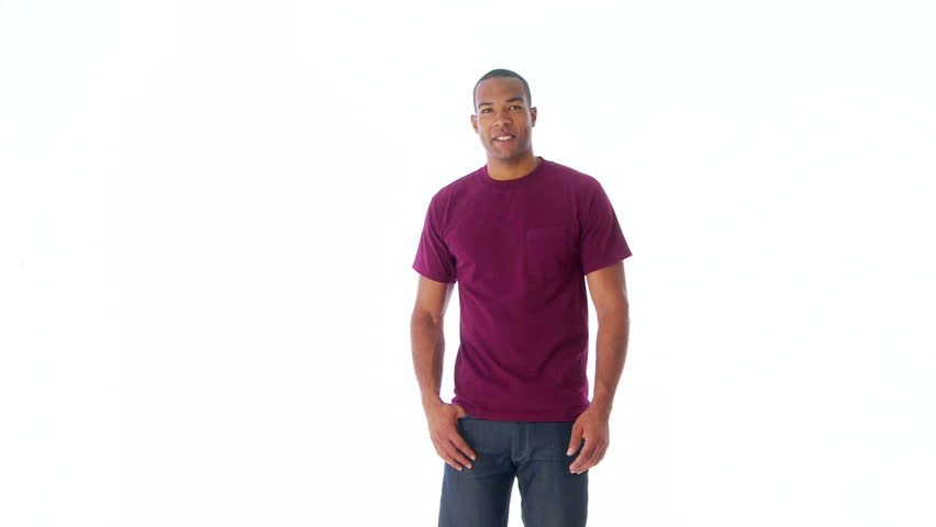 African-American man facing camera and dancing - HD stock footage clip