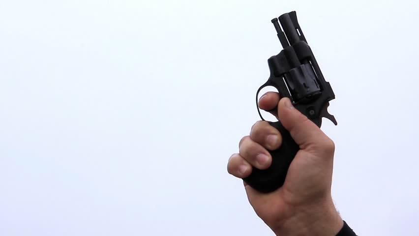Starting pistol shot