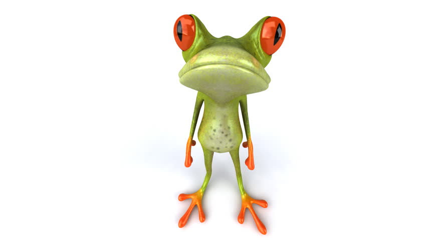Fun frog - HD stock video clip