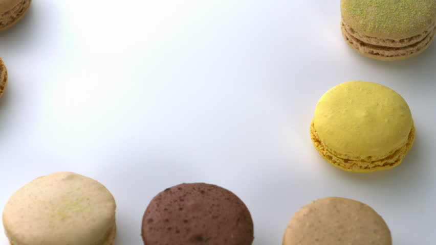 Close-up Macaroons - HD stock video clip