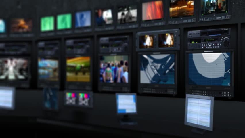 newsroom background for virtual studio stock footage