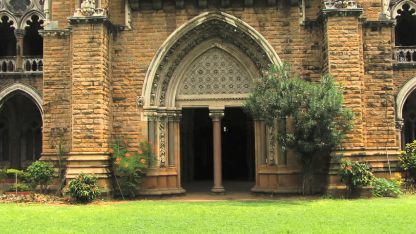 PAN up on university Mumbai - HD stock video clip
