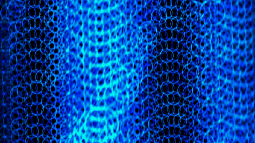 shine blue circle chain curtain shaped wave background,metal round net. - HD stock footage clip