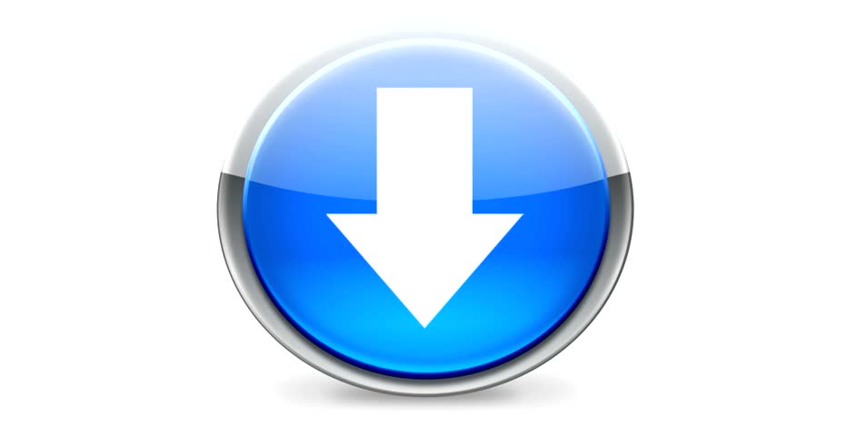 Download - Round button - HD stock video clip