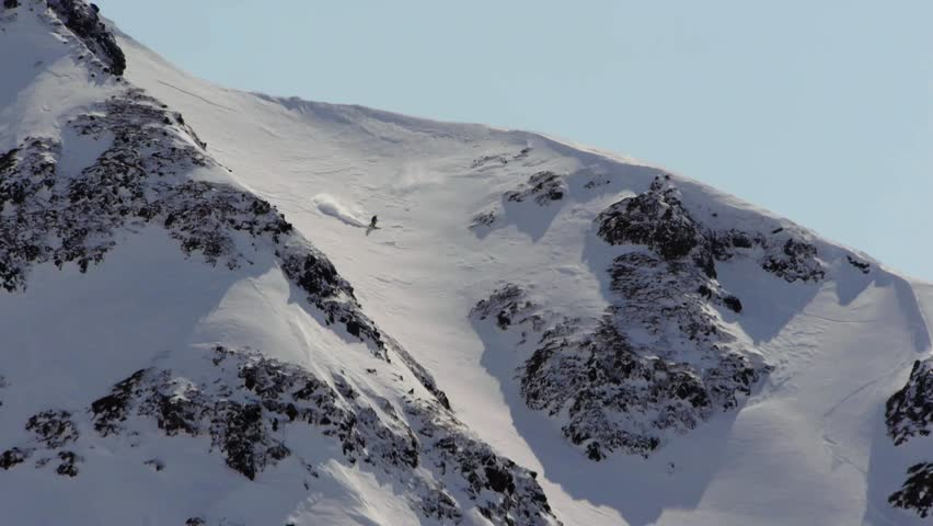 Free-ride skiing in the big mountains.