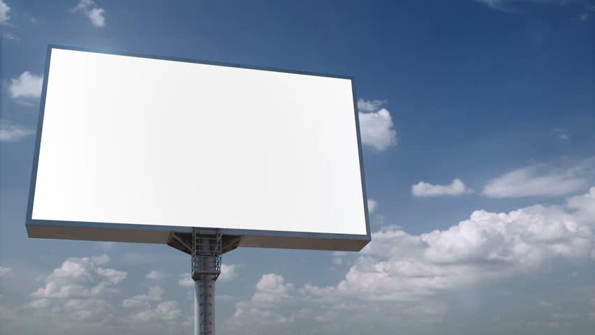 Blank Billboard Looping Clouds Stock Footage Video 287128
