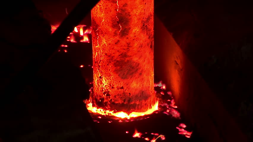 Iron and Steel Works. Metal smelting. - HD stock video clip