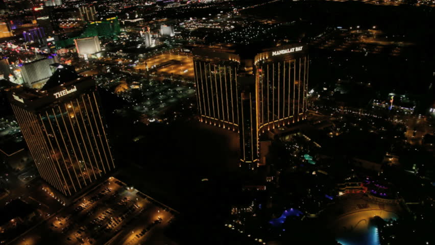 Las Vegas - Circa 2010: The Las Vegas strip in 2010. View of the Las vegas strip at night in Las Vegas, Nevada. - HD stock video clip