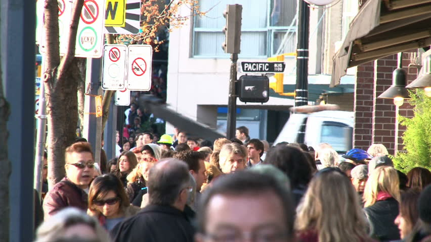 VANCOUVER, BRITISH COLOMBIA - CIRCA NOVEMBER 2010: Time lapse of very busy