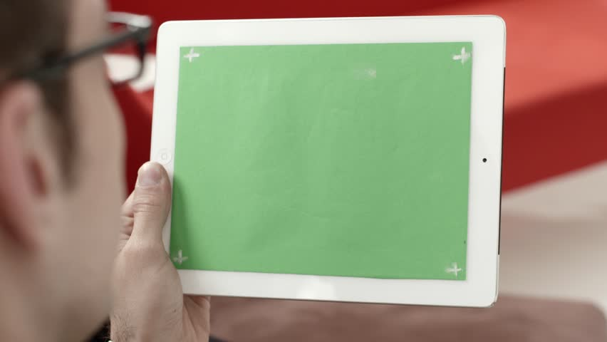 Businessman using digital tablet pc with green screen for internet and email | Shutterstock HD Video #2328056