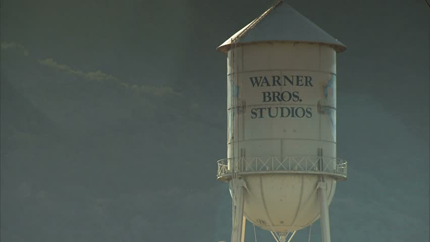 BURBANK, CA - CIRCA 2006: Warner Brothers Front Gate. - HD stock video clip