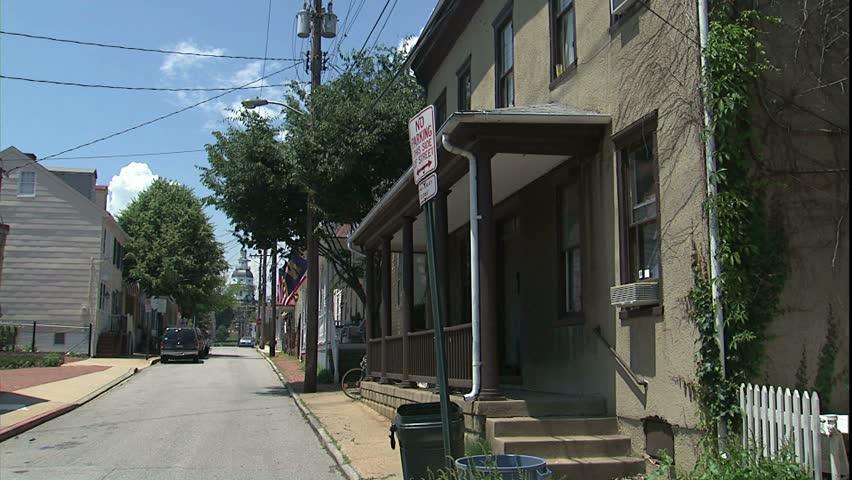 ANNAPOLIS, MD - CIRCA 2005: Historic street. - HD stock video clip