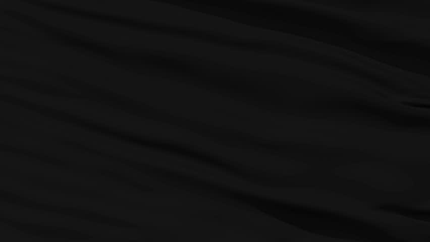 Black Blank Flag Waving In The Wind Against White ...