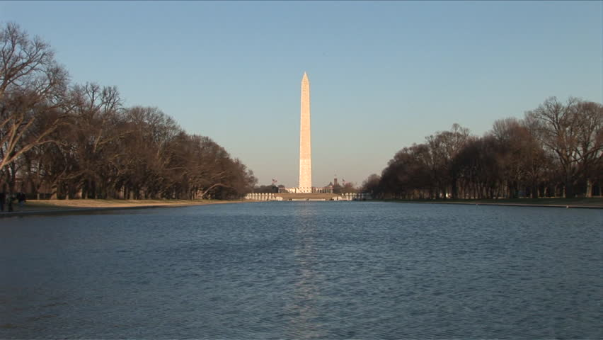 Long view of Washington monument in Washington DC United States - HD stock footage clip