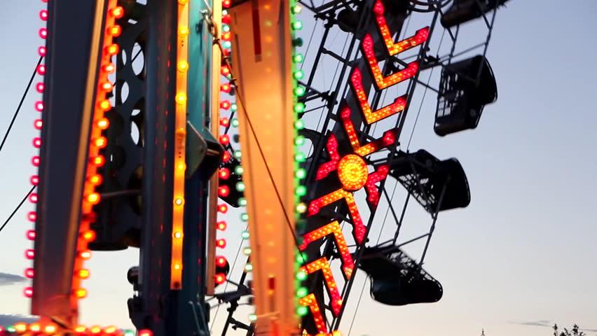 Fun Carnival at Night