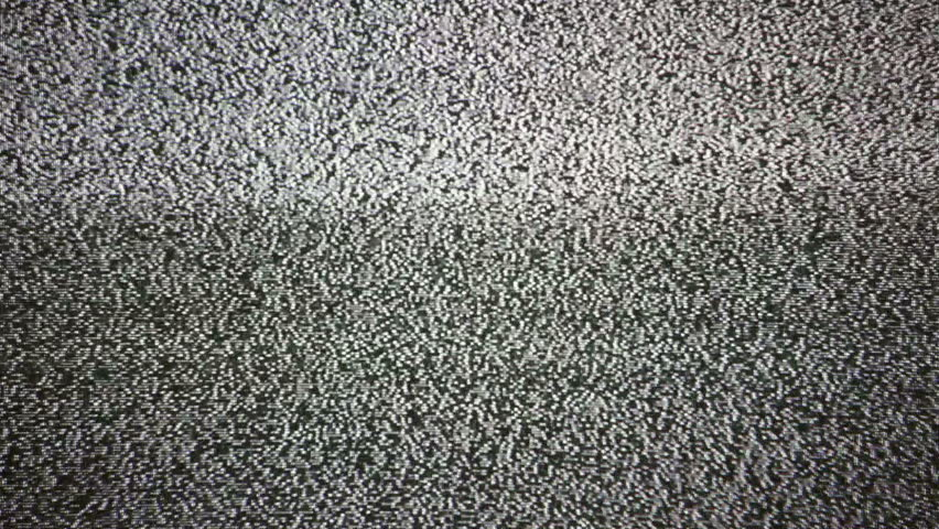 Static noise of flickering detuned TV screen