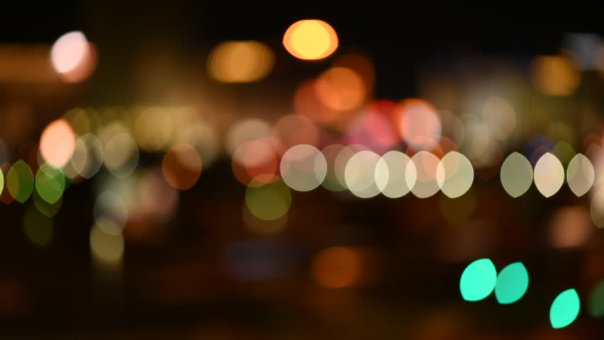 Out of focus background with blurry unfocused city lights and driving cars and car lights. | Shutterstock HD Video #24237548