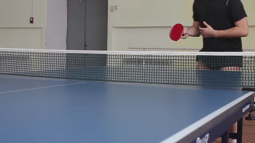 Young sports man tennis-player in play on old gym. Action shot.   Shutterstock HD Video #24251021