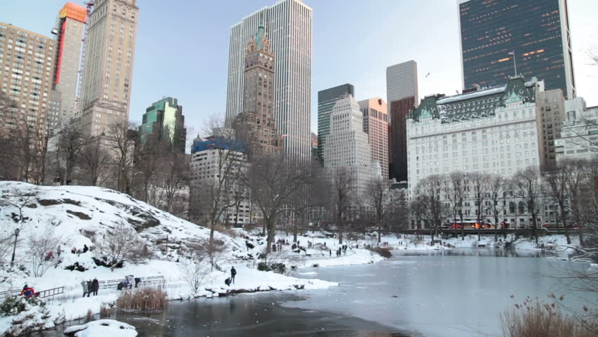 People in snowy Central Park New York City winter | Shutterstock HD Video #24252254