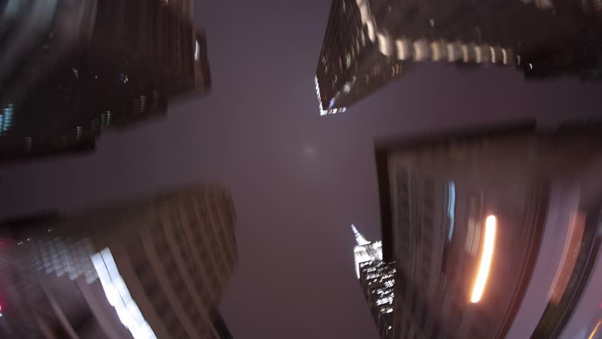 New York City night hyper time lapse Empire State building blurred motion 4k | Shutterstock HD Video #24252317