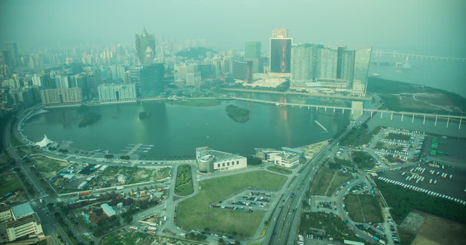 Macau 2013 - Sunset time lapse of Macau from the Macau Tower | Shutterstock HD Video #24277688