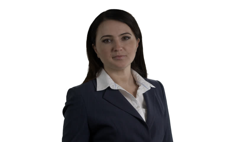 Surprised business woman with negative emotions covering face with hands on white background. 4k footage PNG with alpha channel. | Shutterstock HD Video #24310061