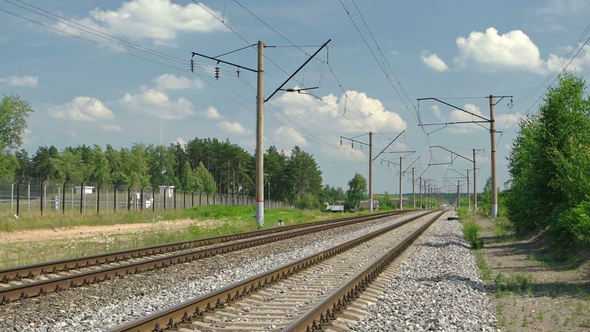 Suburban railway line. FullHD footage | Shutterstock HD Video #24337502