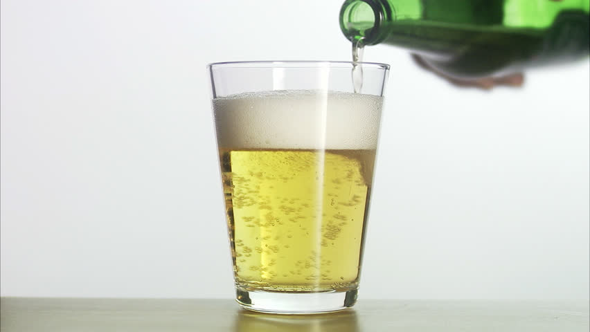 A glass of beer. - HD stock footage clip