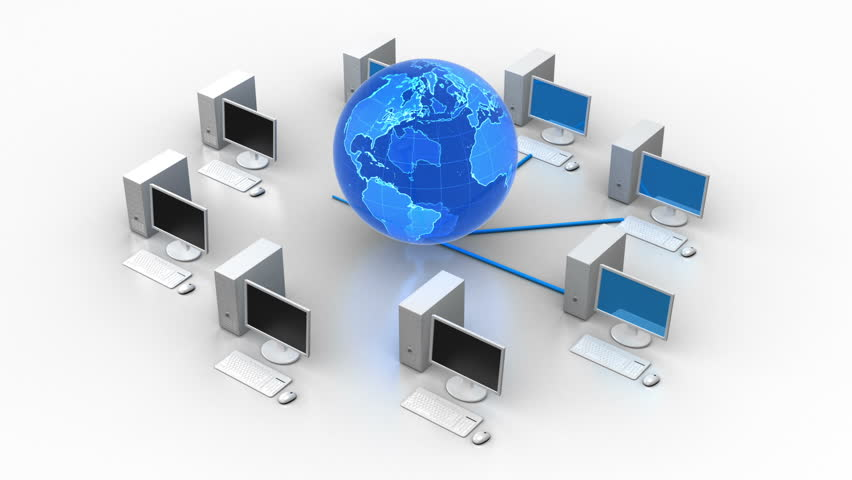 Network Diagram - Server  Client Stock Footage Video 1094368