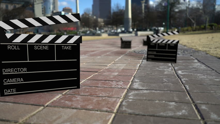 Film clapboards everywhere