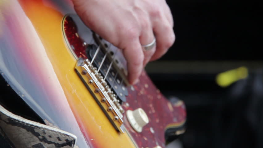 Guitarist at concert - HD stock footage clip