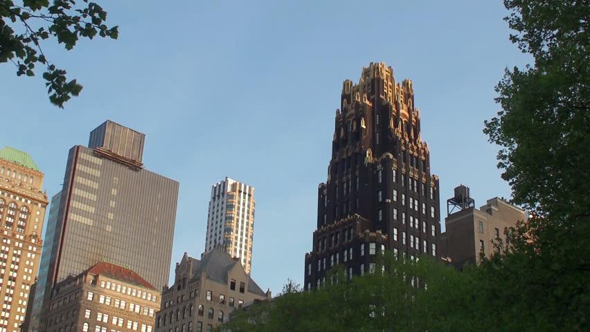 Center of Manhattan (Midtown Manhattan,  NYC) - HD stock footage clip