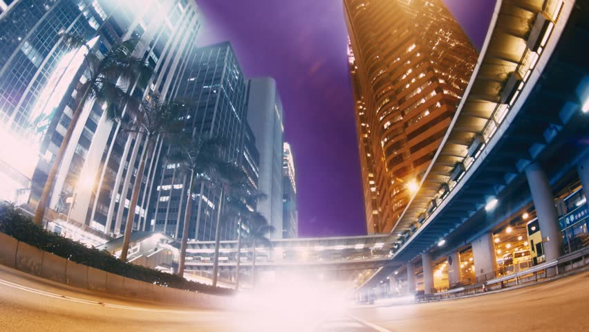 The Evening Streets of Hong Kong. Time Lapse. | Shutterstock HD Video #24793532