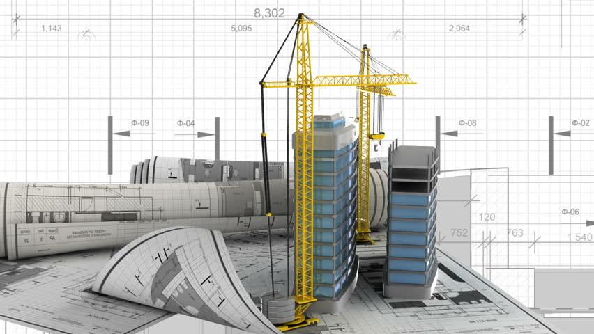 Presentation of new modern building design project