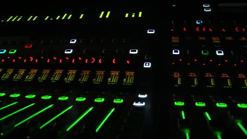 Sound mixer. - HD stock footage clip