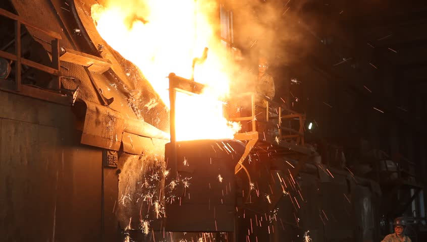Pouring Hot Iron