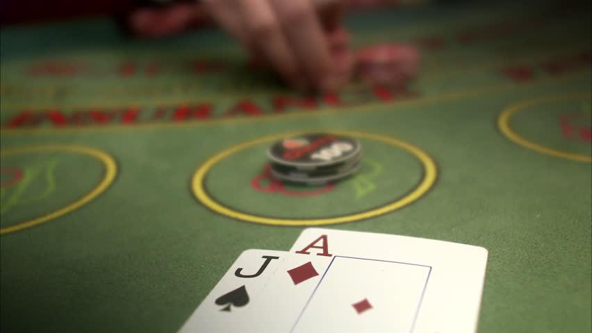 Winning at a gambling table.