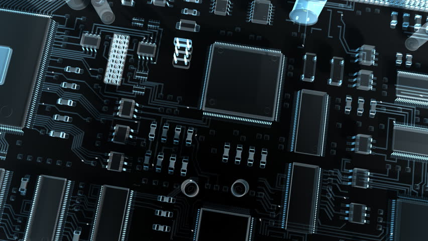 Abstract circuit board. High Technology 3d animation.  #2506895