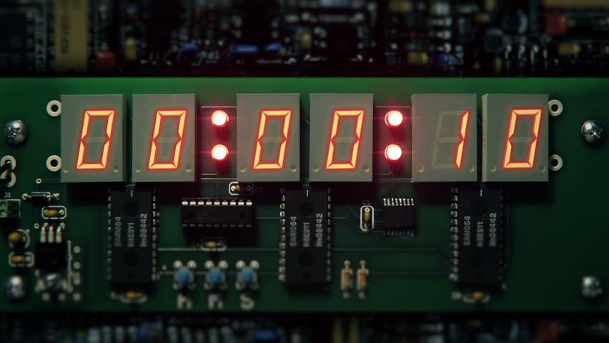 Bomb detonator 10 seconds count to explosion.