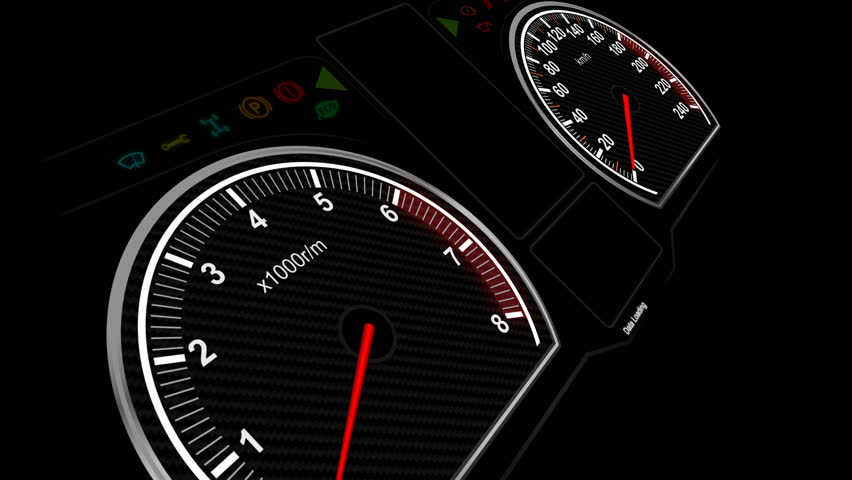 Animation of car dashboard speed rpm meter and automobile icon for transport concept   Shutterstock HD Video #25156241