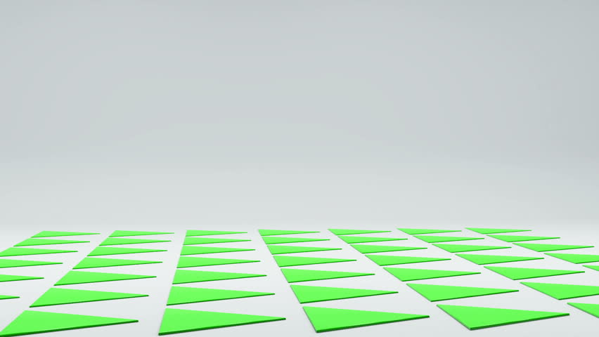 3d geometrical prickly triangles thorns on white floor animation. Motion geometric abstract background with copyspace | Shutterstock HD Video #25208315