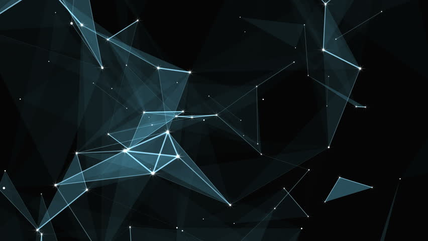 Plexus of abstract lines, triangles and dots. Loop animations. | Shutterstock HD Video #25208747
