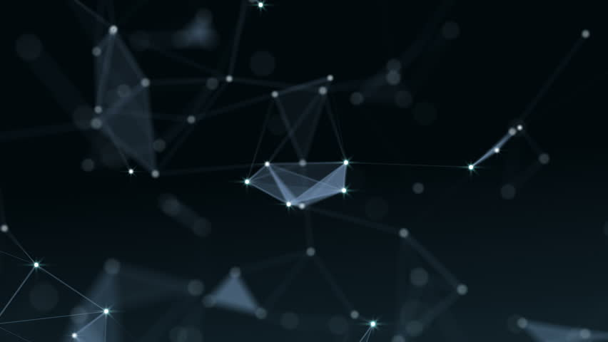 Plexus of abstract lines, triangles and dots. Loop animations. | Shutterstock HD Video #25208756