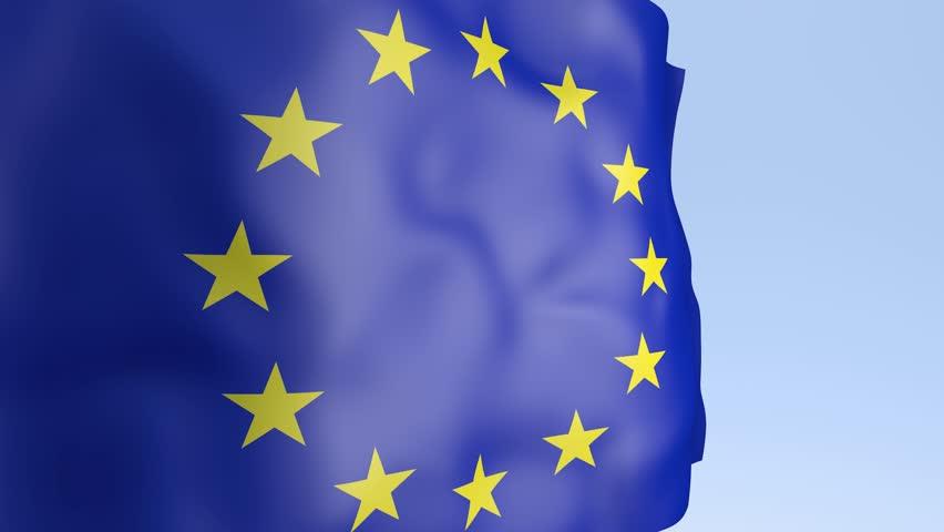 3D Animation - European flag waving in the wind | Shutterstock HD Video #25210511