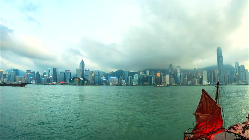4K.Time lapse Hong Kong City  | Shutterstock HD Video #25210529