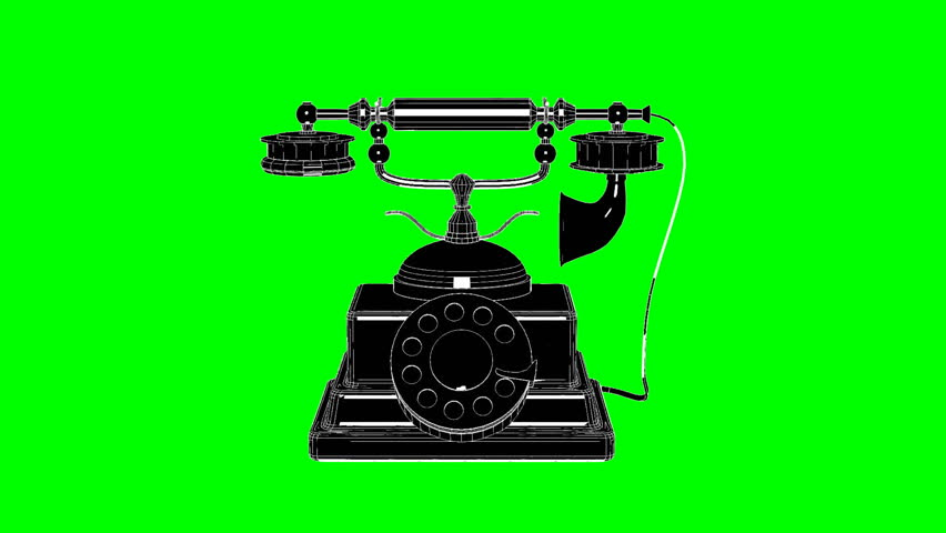 Retro Phone Rotation On Green Screen. Use your favorite green screen knock application and use anywhere. | Shutterstock HD Video #25215560