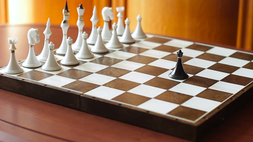 Chess. Go the pawn forward. Against everyone. Symbolism. Close-up | Shutterstock HD Video #25217918