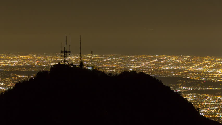 Los Angeles Time Lapse from Mt Wilson Night | Shutterstock HD Video #25274636